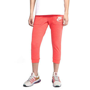 NEW Nike Gym Vintage Capri Pants Rush Coral SZ L